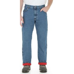 Wrangler Fleece Lined Jeans Rugged Wear 40 32